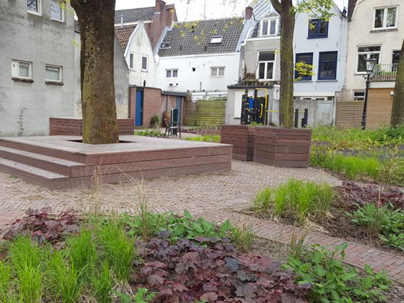 Co-creatie bewonersparticipatie duurzaam binnentuin stadscentrum